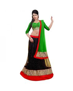 Black Resham Embroidery Lehenga Now @Rs.5,747 60% OFF   Click Here To Buy:- http://www.ethnicstation.com/black-resham-embroidery-lehenga-rc5507  #EmbroideryLehenga #CashOnDelivery