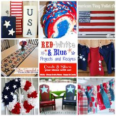 AliLily | Red, White and Blue Projects and Recipe Round Up and Link Party