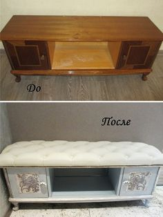 Interesting alterations of old furniture: before and after - Useful tips Home Bar Furniture, Furniture Projects, Furniture Making, Furniture Makeover, Cool Furniture, Painted Furniture, Small Space Interior Design, Interior Design Living Room, Handmade Furniture