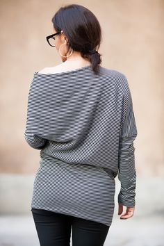 A personal favorite from my Etsy shop https://www.etsy.com/listing/211504381/asymmetrical-striped-tunicextravagant