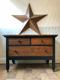 Chest Of Drawers Makeover, Vintage Furniture, Refinished Furniture, Dresser, Antiques, Spaces, Home Decor, Antiquities, Powder Room
