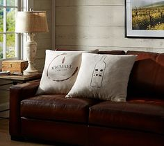 Personalized Wine Pillow Cover #potterybarn
