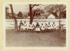 Joggling board, Laing School, 1900.