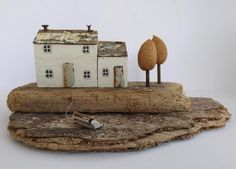 Riverside cottage at low tide