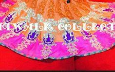 Maria B Bridal, Mehndi, Pakistani, Hot Pink, Outdoor Blanket, Pure Products, Stitch, Skirt, Elegant