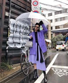 Korean Fashion Trends you can Steal – Designer Fashion Tips Asian Street Style, Looks Street Style, Korean Street Fashion, Asian Fashion, Japan Street Fashion, Purple Fashion, Girl Fashion, Womens Fashion, Fashion Trends
