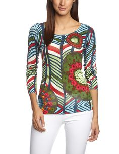 Desigual Damen Pullover MADELAINE REP, Gestreift, Gr. 36/S (Herstellergröße: M), Blau (Turquesa 5013) Pullover, Colourful Outfits, Topshop, My Style, Clothing, T Shirt, Color, Shopping, Fashion