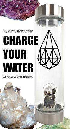 Glass Drinking Bottles, Water Bottles, Drink Bottles, Charge Crystals, Healing Crystals, Infused Water Bottle, All Natural Skin Care, Back Off, The Cure