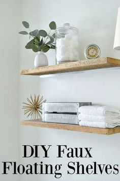 DIY Faux Floating Sh