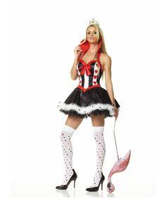 Alice In Wonderl Queen Of Hearts Adult Costume - Women Alice Costumes 9edd8522b68