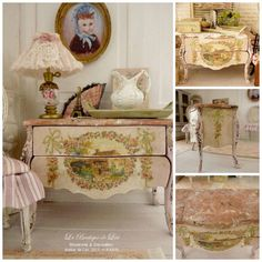 Marie-Antoinette chest of drawers distressed by AtelierdeLea