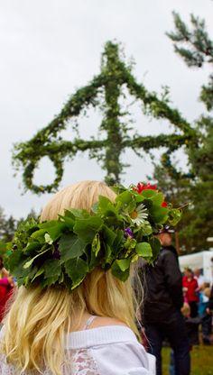 Midsummer's Eve in Tylösand, Halmstad, Sweden. I'd love to experience midsummer's eve in Sweden!