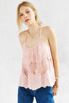 Kimchi Blue Crochet Cami - Urban Outfitters