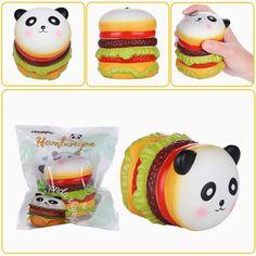 Vlampo Squishy Panda Hamburger 10cm Slow Rising Original Packaging Collection Gift Decor Toy