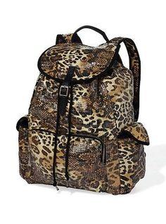 Sparkly Leopard Backpack VS