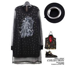 Мелинда стиль 2015 новых мужчин свободного покроя платье лошадь рисунок заклепки украшенные сетки платье бесплатная доставка, принадлежащий категории Платья и относящийся к Одежда и аксессуары для женщин на сайте AliExpress.com | Alibaba Group