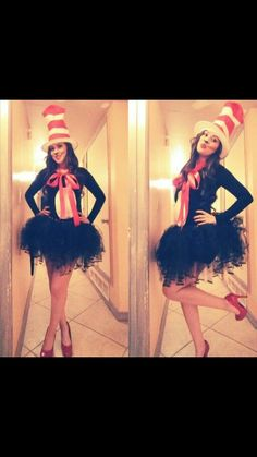 Very cute cat in the hat costume
