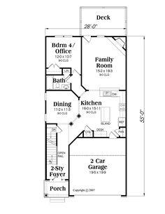 First Floor Plan of House Plan 72581