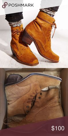 SixtySeven Felicity Ankle Boots Camel suede lace up booties from SixtySeven. Only worn twice, in perfect condition. Purchased from Urban Outfitters. Size 39 (9) True to size! Currently selling on other sites for $120 Urban Outfitters Shoes Ankle Boots & Booties