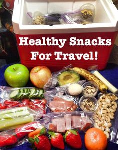 Healthy snacks for traveling!