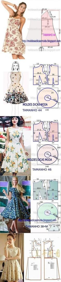 26 Ideas for sewing crafts costura Fashion Sewing, Diy Fashion, Ideias Fashion, Moda Fashion, Skirt Patterns Sewing, Clothing Patterns, Pattern Sewing, Diy Clothing, Sewing Clothes