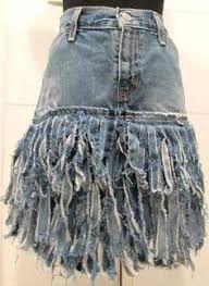 Resultado de imagem para corseted jean skirt with lace