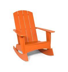 4-Slat Rocking Adirondack Chair (Curved)