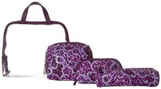 Vera Bradley Luggage - Iconic Four-Piece Cosmetic Set Cosmetic Case