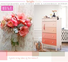 Bright.Bazaar: Sunday's Bright Links No. 83: Peach Hues. The ombré dresser is loveky