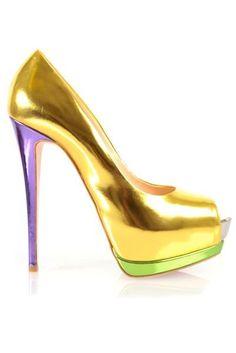 Giuseppe Zanotti ~ Metallic Colourblock Heel