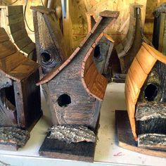 thoughtful and whimsical birdhouses made from salvage and found materials Bird House Plans, Bird House Kits, Bird House Feeder, Bird Feeders, Wood Projects, Woodworking Projects, Bird Boxes, Kinds Of Birds, Backyard Birds