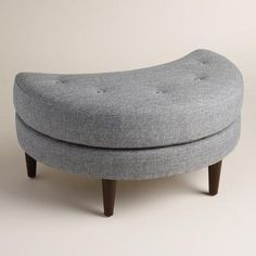 One of my favorite discoveries at WorldMarket.com: Gray Seren Half Moon Ottoman