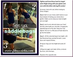 work those abductors, core and glutes!! via @fitnessista
