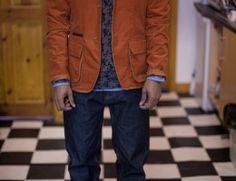 Floral Shirt, Orange jacket Orange Jacket, Cool Jackets, Lady And Gentlemen, Watch Brands, Gentleman, Beige, Blazer, Artist, Editorial