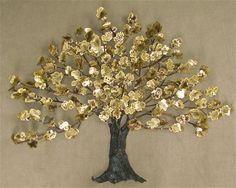 "Huge Modern Brass ""Tree of Life"" Wall Art Sculpture Mid Century Tree Wall Art, Tree Art, Sculpture Art, Sculptures, Wall Murals, Wall Hangings, Tree Of Life, Modern Wall, Art Boards"