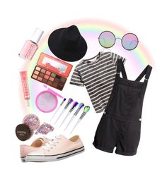"""""""*feels like a unicorn* 🦄"""" by szeman-rebeka on Polyvore featuring Converse, Sunday Somewhere, Too Faced Cosmetics and Essie"""