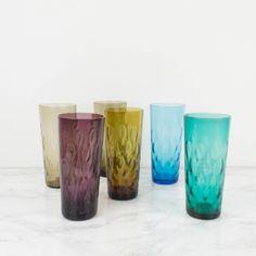 Juego de 6 vasos altos de colores | Antic&Chic