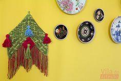 Como hacer un telar de tela para la pared