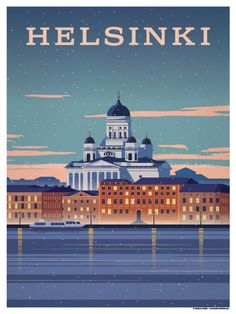 Helsinki Poster by IdeaStorm Studios ©2017. Available for sale at ideastorm.bigcartel.com