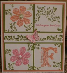 Without the butterfly. as 4 separate cards.