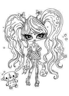 Dibujos para imprimir Monster High 8  Seccin de dibujos para