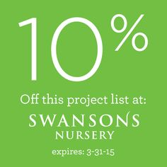 Bring in your board and we'll help you find plants. This 10% Off coupon expires 3-31-15.