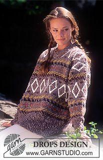Sweater in Alaska with border ~ DROPS Design