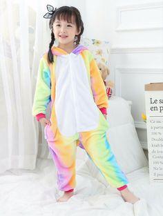 b15979298a Unicorn Kids Pyjamas Sleepwear Animal Costume Cosplay Fleece Pyjamas  Sleepwear Unicorn Unicorn Onesie