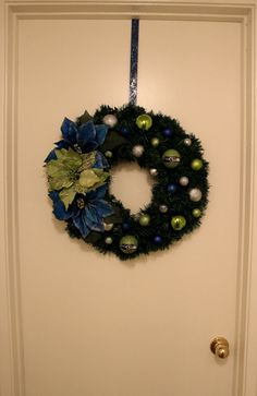 Seahawks Wreath by LovelyBitsOfRandom on Etsy, $35.00