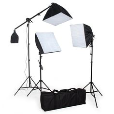 TecTake Kit completo estudio de la iluminación 5500K + Trípode + Softbox + Bolsa de transporte: Amazon.es: Iluminación