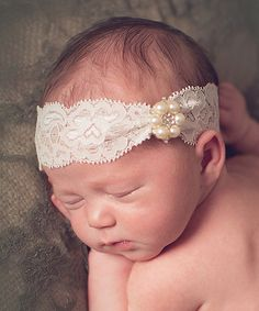 Love this Ivory Floral Lace Headband by Melondipity on #zulily! #zulilyfinds