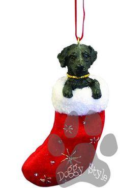 Santa's Little Pals Black Labrador Retriever Christmas Ornament http://doggystylegifts.com/products/santa-s-little-pals-black-labrador-retriever-christmas-ornament