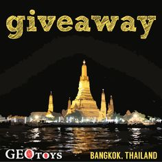 Our kids love GeoPuzzles and here is your chance to win one! Answer the Question and Share this post to be entered to win a GeoPuzzle!  Bangkok, Thailand is one of the world's most popular cities to visit. What city would you most love to visit and why?
