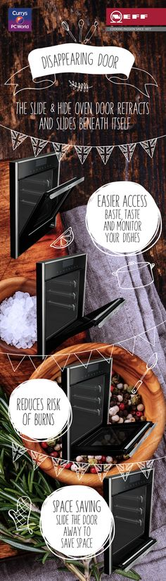 Kit your kitchen out with the Neff Slide & Hide oven, complete with neat disappearing door! @biybyneff
